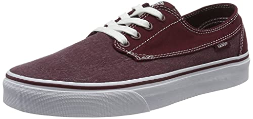 9b5f1e762b Vans Men s Brigata Lace-Up Sneakers Red (Washed Canvas Port Royale White)  7.5 UK  Buy Online at Low Prices in India - Amazon.in