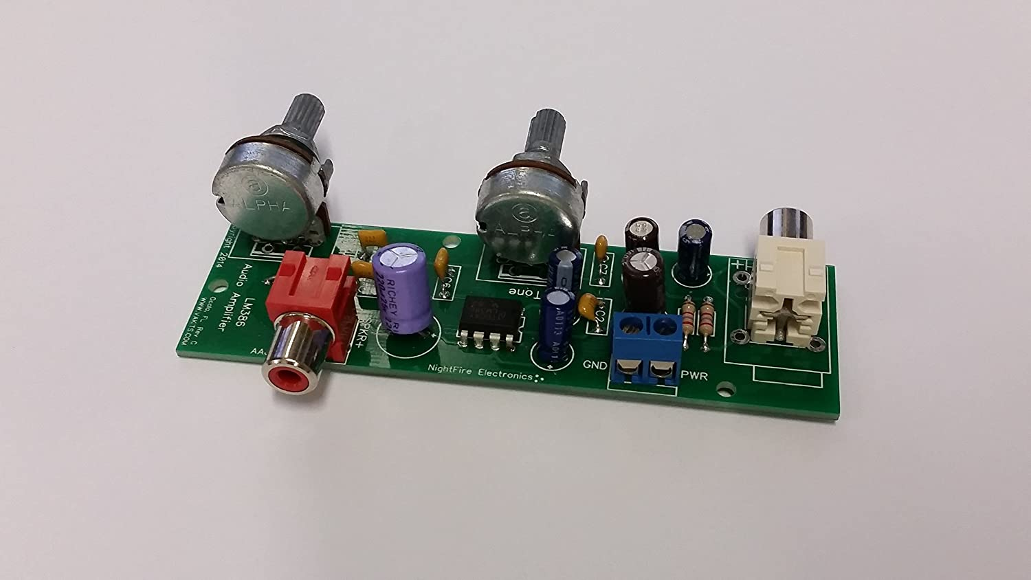 Nightfire Lm386 Audio Amplifier Kit Built Tested Simple Circuit Using Electronics