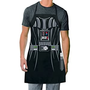 ICUP Star Wars - Darth VaderBe The Character Adult Size 100% Cotton Adjustable Black Apron