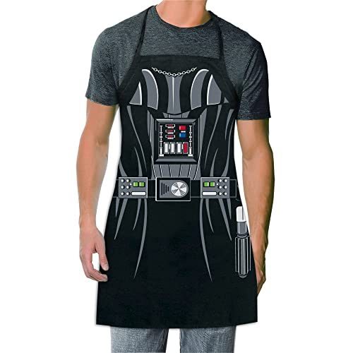 ICUP Star Wars - Darth Vader Be The Character Adult Size 100% Cotton Adjustable Black Apron by ICUP