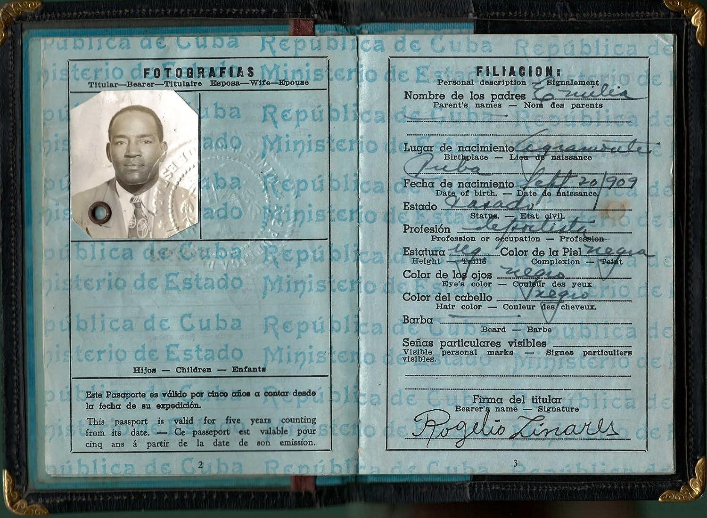 Rogelio Linares 4X Signed Cuban Passport JSA X78214 at Amazon\'s ...