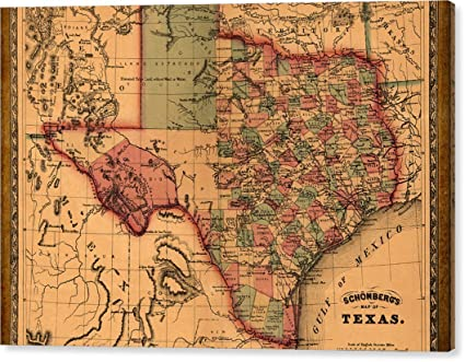 Mirrored Map Of The World.Texas Map Art Vintage Antique Map Of Texas By World Art Prints