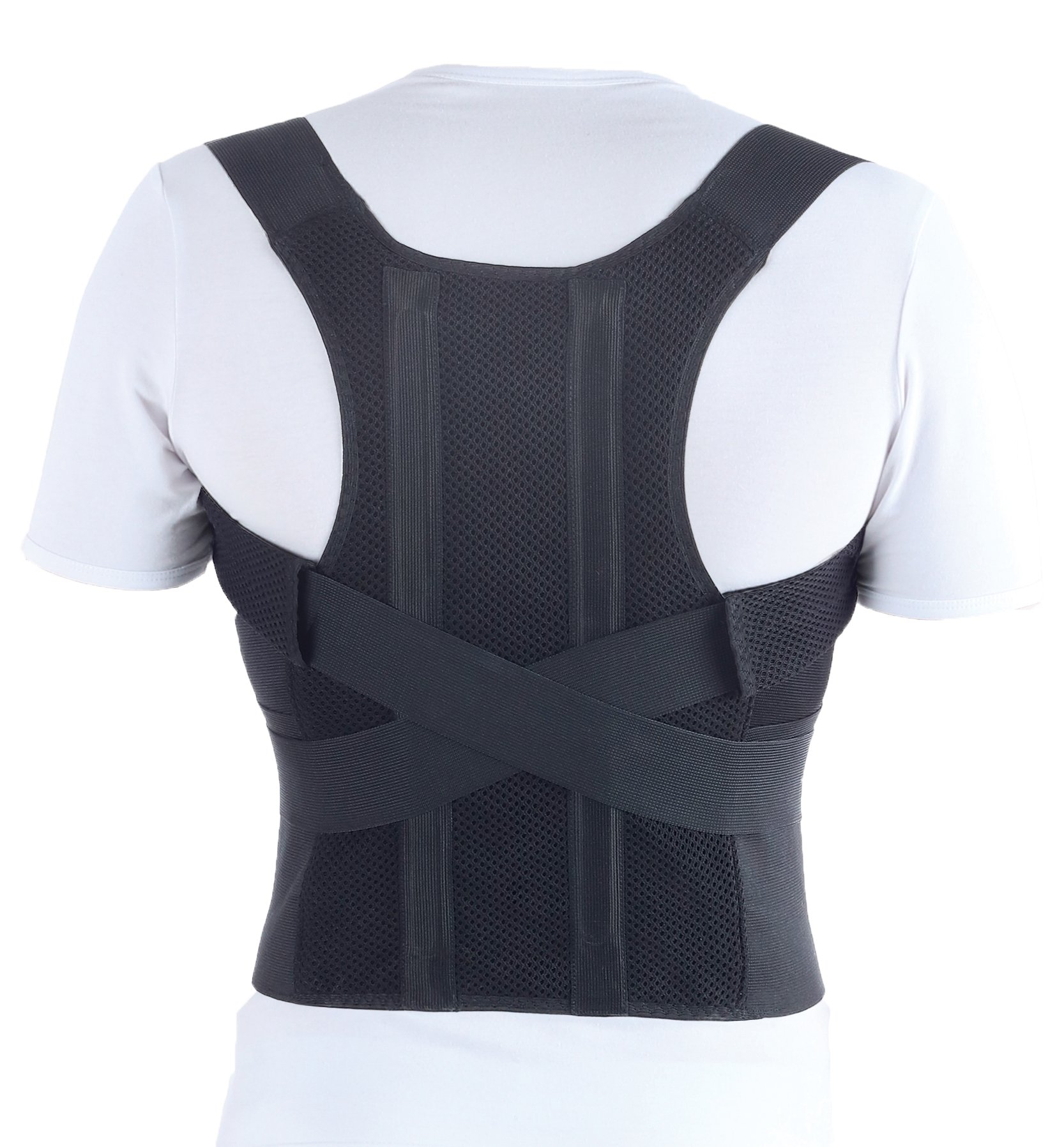 TOROS-GROUP Comfort Posture Corrector Brace/100%-Cotton Liner, Waist/Belly 40'' - 43 1/2'', X-Large, Black by TOROS-GROUP
