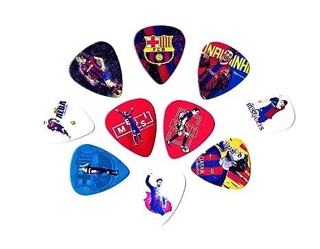 Púas para guitarra de las leyendas del Barcelona (10 púas medianas en un paquete)