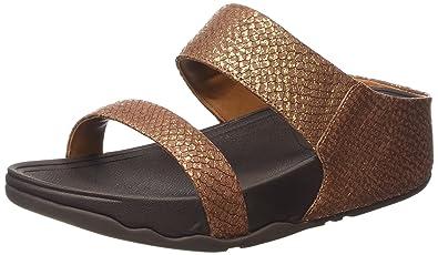 Fitflop Lulu Slide Womens Sandals Blue - B01D3O2JFS