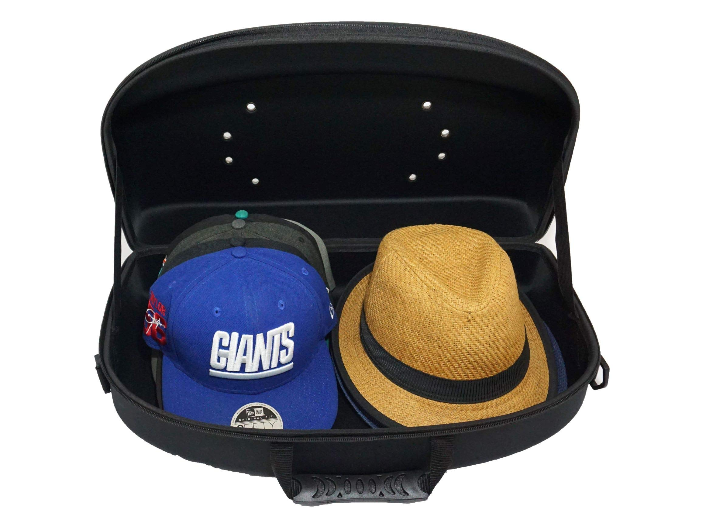 Hat Carrier/Cap Case Organizer for Travel and Storage for Baseball Cap and Fedora Style Hats by Joshmin