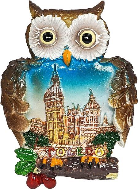 zamonji Catedral de Toledo, Souvenir de España Imán de Nevera Imanes para Refrigerador 3D Resina Decoración del Hogar y la Cocina Regalo de Recuerdo de Viaje: Amazon.es: Hogar