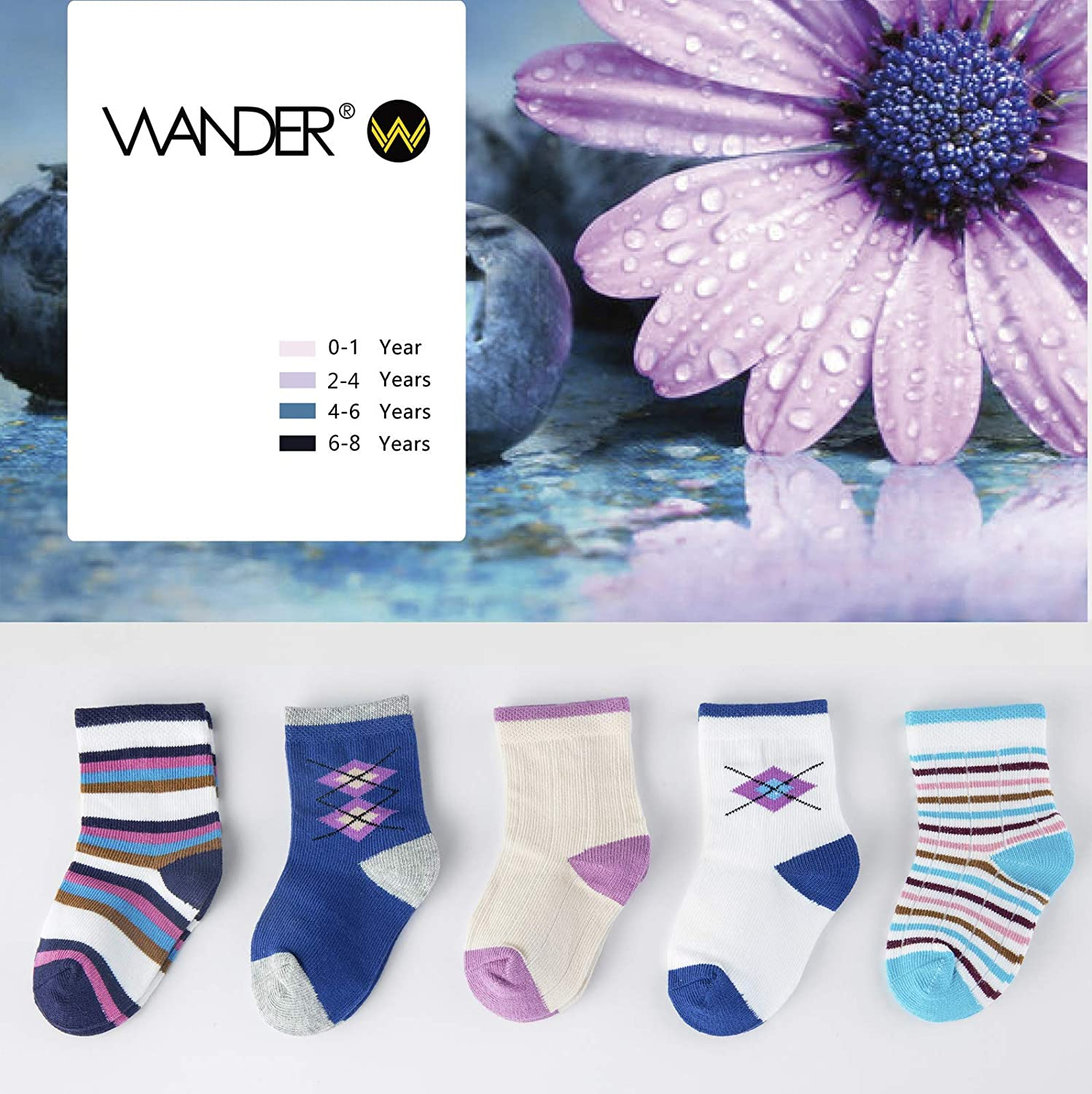 CHINE HIGH Varity Of Boys Girls Socks 5//12 Pairs Colorful Cartoon Thin and Comfortable Cotton Kids Socks