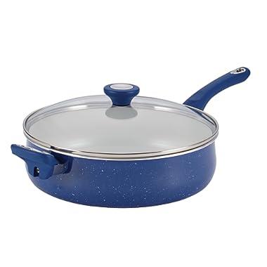 Farberware New Traditions Speckled Aluminum Nonstick 5-Quart Jumbo Cooker with Helper Handle, Blue