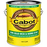 Cabot 140.0001400.007 Semi-Solid Deck & Siding Stain, Gallon, Clear
