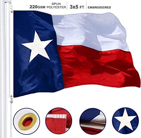 3x5 Embroidered State of New Mexico 220D Sewn Nylon Flag Banner