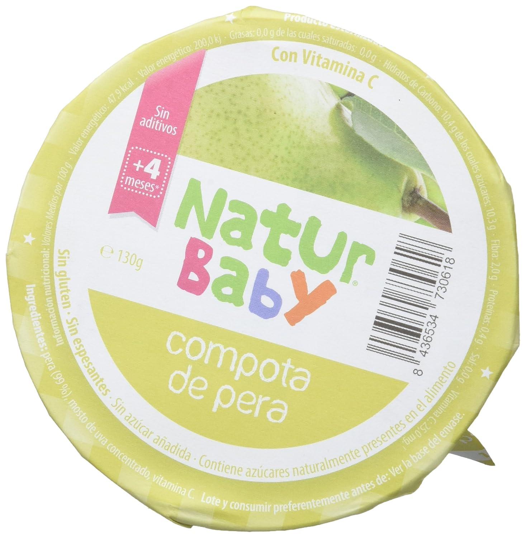 Natur Baby Puré Natural de de Compota de Pera para Bebé - Paquete de 18 x 130 gr - Total: 2340 gr: Amazon.es: Alimentación y bebidas
