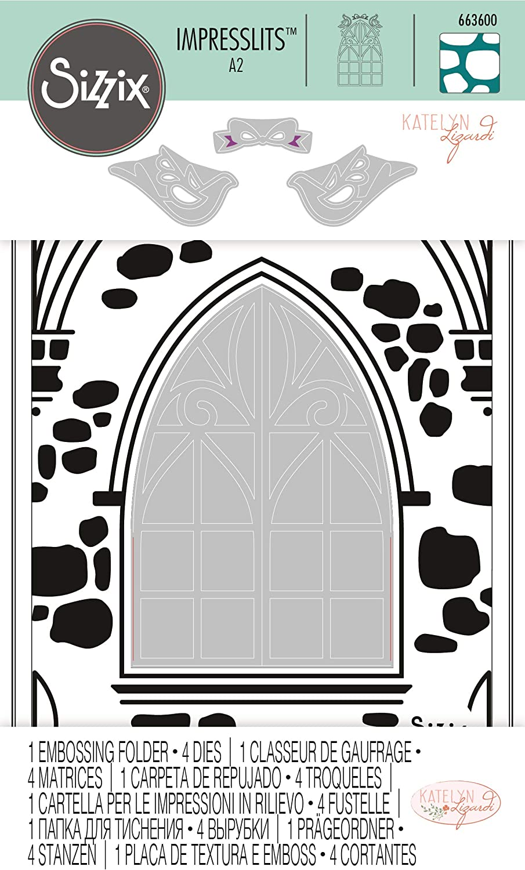 10 Modèles 1 Embossing Folder Window Box Sizzix impresslits 663585
