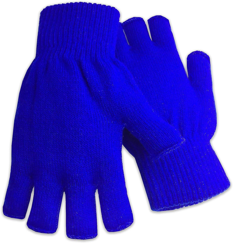Winter Fingerless Gloves Warm Half Finger Knitted Unisex Standard Size Assorted Colors