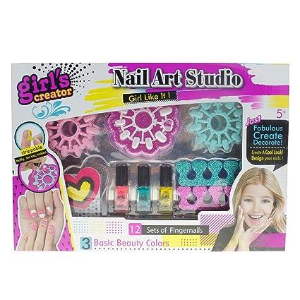 Amazon Style Carry Nail Art Set Girls Toys Nail Polish Set
