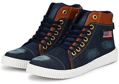 eff33da89ad61 Flooristo Denim Casual Sneakers Boot Shoes for Men/Boys
