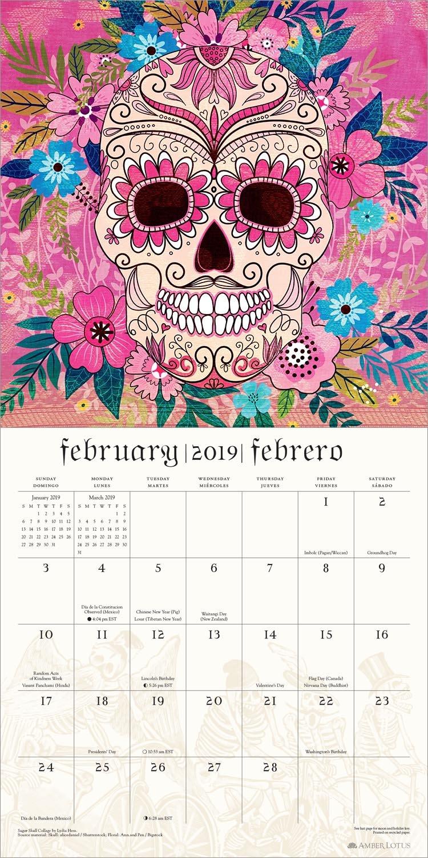 b0462f1af Day of the Dead 2019 Wall Calendar: Sugar Skulls: Kate O'Hara, Brandon  Maldonado, Amber Lotus Publishing: 0762109040065: Amazon.com: Books