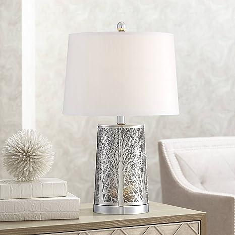 Amazon.com: Marin corte láser Base de plata lámpara de mesa ...