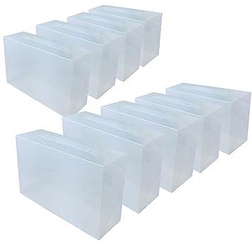 DynaSun 16152 PP368T - 9 cajas para zapatos, para hombre/mujer, ahorra espacio, transparente, 9 huecos: Amazon.es: Hogar