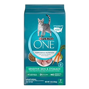 Amazon Purina One Sensitive Systems Adult Dry Cat Food 7 Lb