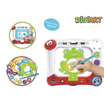 VTech- DigiART Pizarra con Plantillas y Dibu-Ruedas para Colorear (3480-169022): Juguetes y juegos
