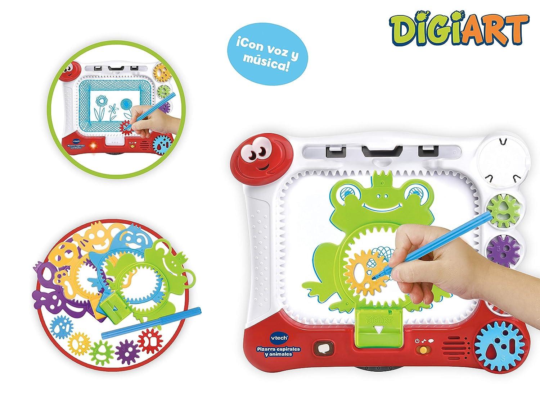 VTech DigiART Pizarra con Plantillas y Dibu-Ruedas para Colorear (3480-169022): Amazon.es: Juguetes y juegos