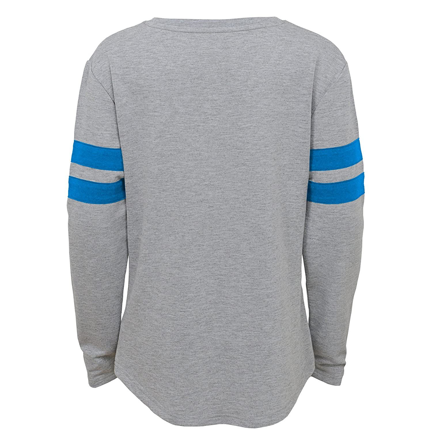 14 Outerstuff NFL NFL Detroit Lions Youth Girls Field Armor Long Sleeve Dolman Tee Heather Grey Youth Large