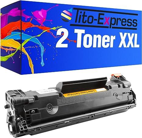 PlatinumSerie® 2x cartucho de tóner compatible con HP CE285A 85A ...