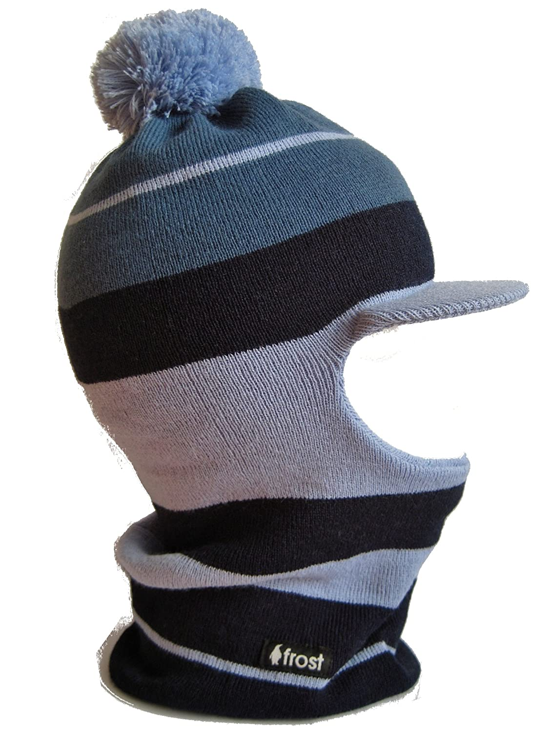 Frost Hats Winter Boy's Hat Balaclava Striped Ski Mask Knit Frost Hats M-222-BLU