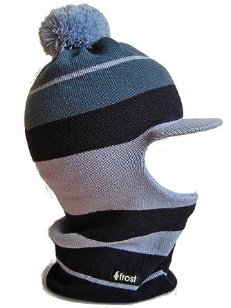 391523ea48e Frost Hats M-222-BLU Winter Boy s Hat Balaclava Striped Ski Mask Knit Hats   Amazon.co.uk  Clothing