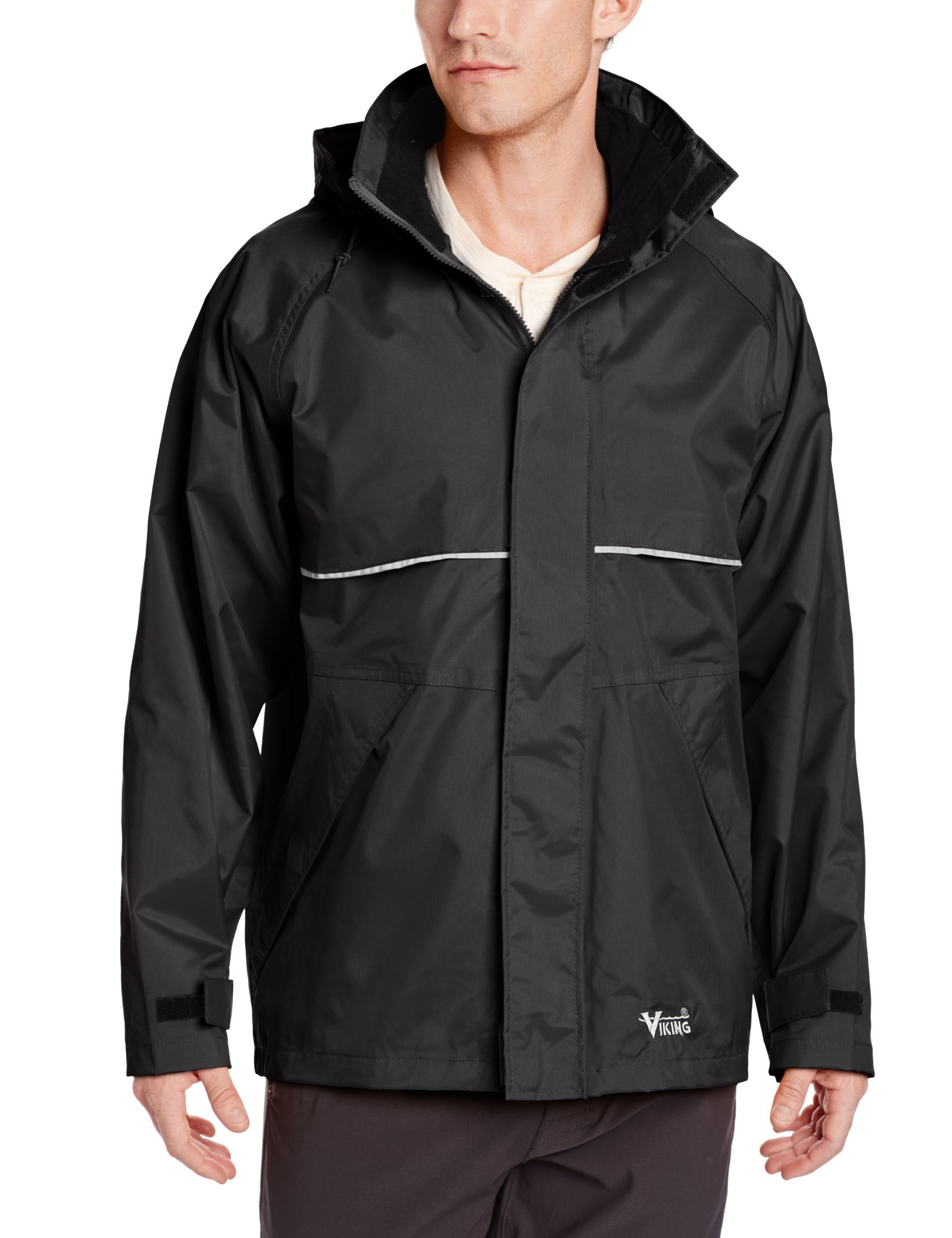 Viking Journeyman Waterproof Industrial Jacket, Black, Large by Viking