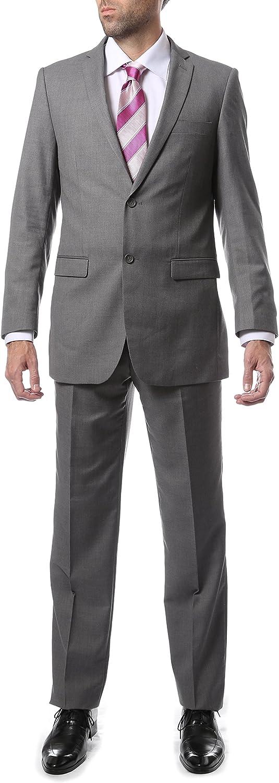 Ferrecci 52L Mens 2pc 2 Button Regular Fit Gray Suit