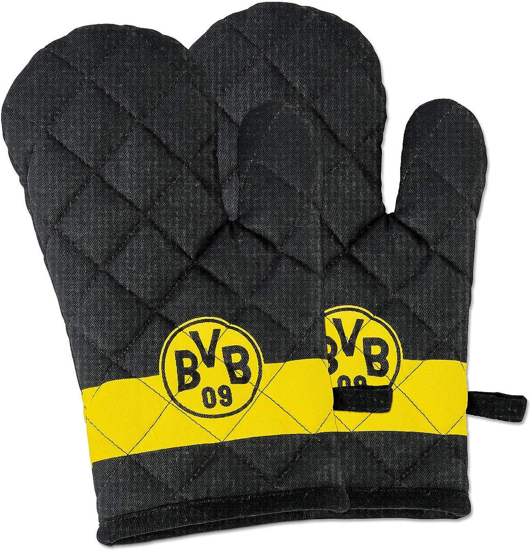 Oven gloves set of 2 Borussia Dortmund black-yellow,