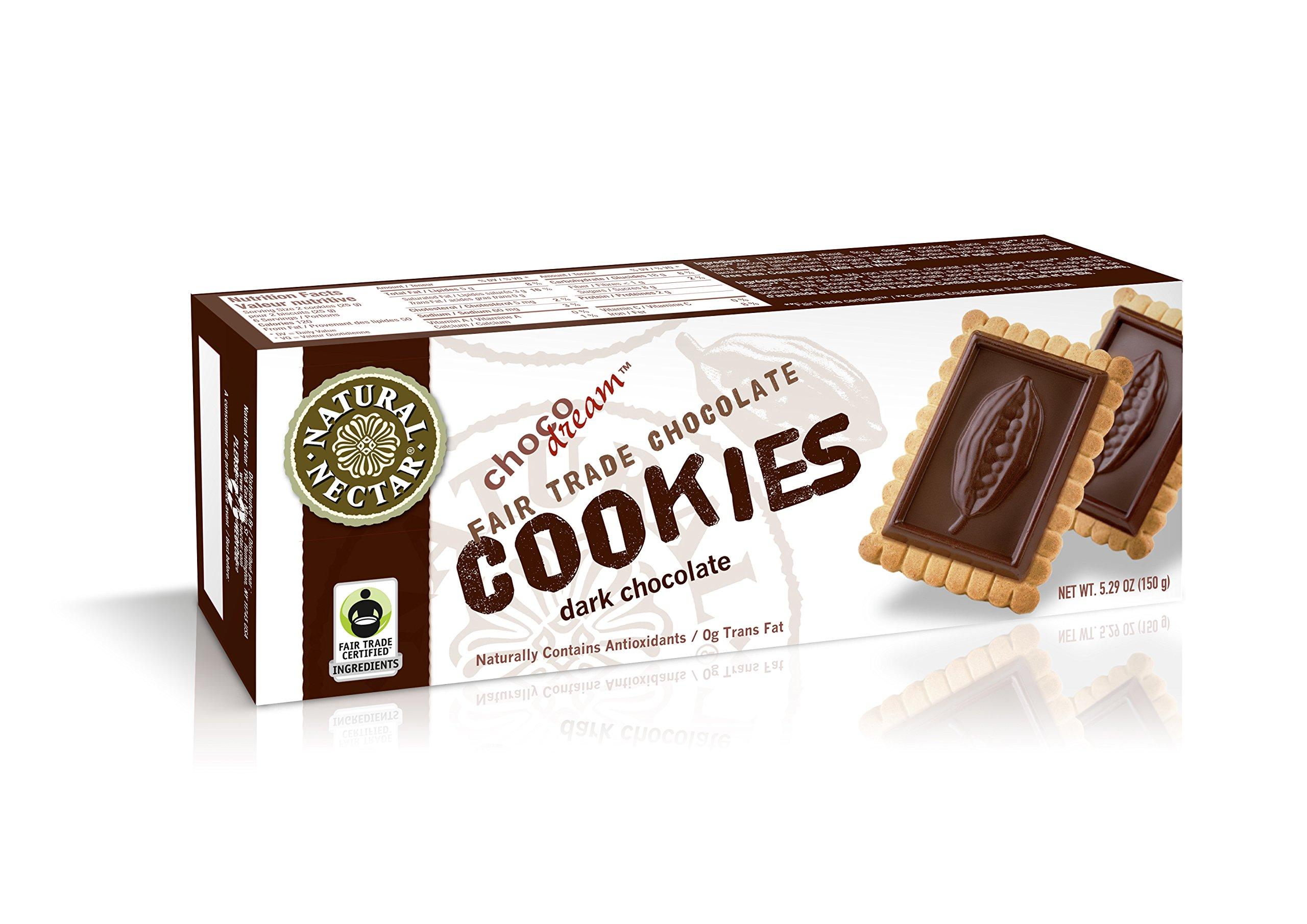 Natural Nectar ChocoDream Cookies, Dark Chocolate, 5.29 Ounce Box (Pack of 12)