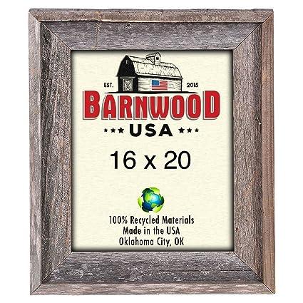 Amazon.com - BarnwoodUSA Rustic 16x20 Inch Signature Picture Frame ...