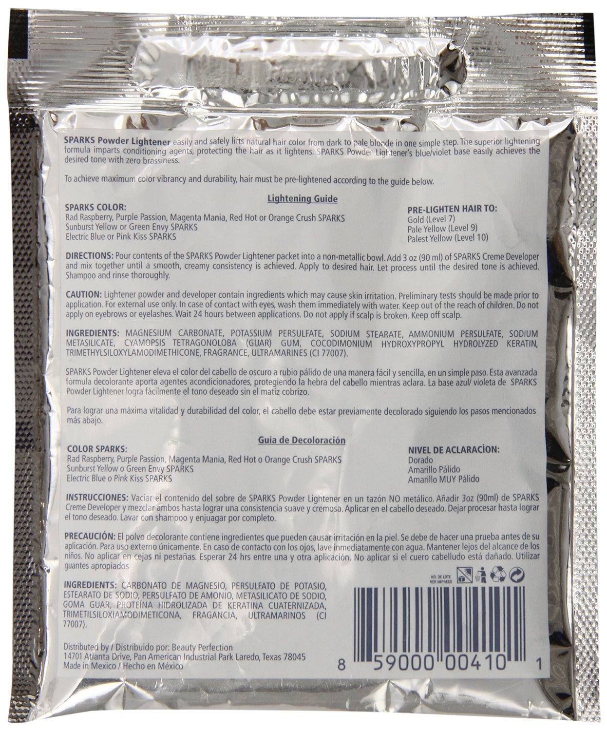 Sparks Powder Lightener 1.5 Oz by SPARKS: Amazon.es: Belleza