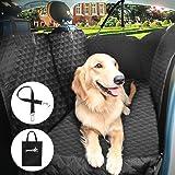 Pecute Coprisedile Amaca Auto per Cani Impermeabile Grande con Protezioni Laterali Base Antiscivolo Morbido, Universale per Tutte le Auto, SUV, con Cintura di Sicurezza e Sacchetto