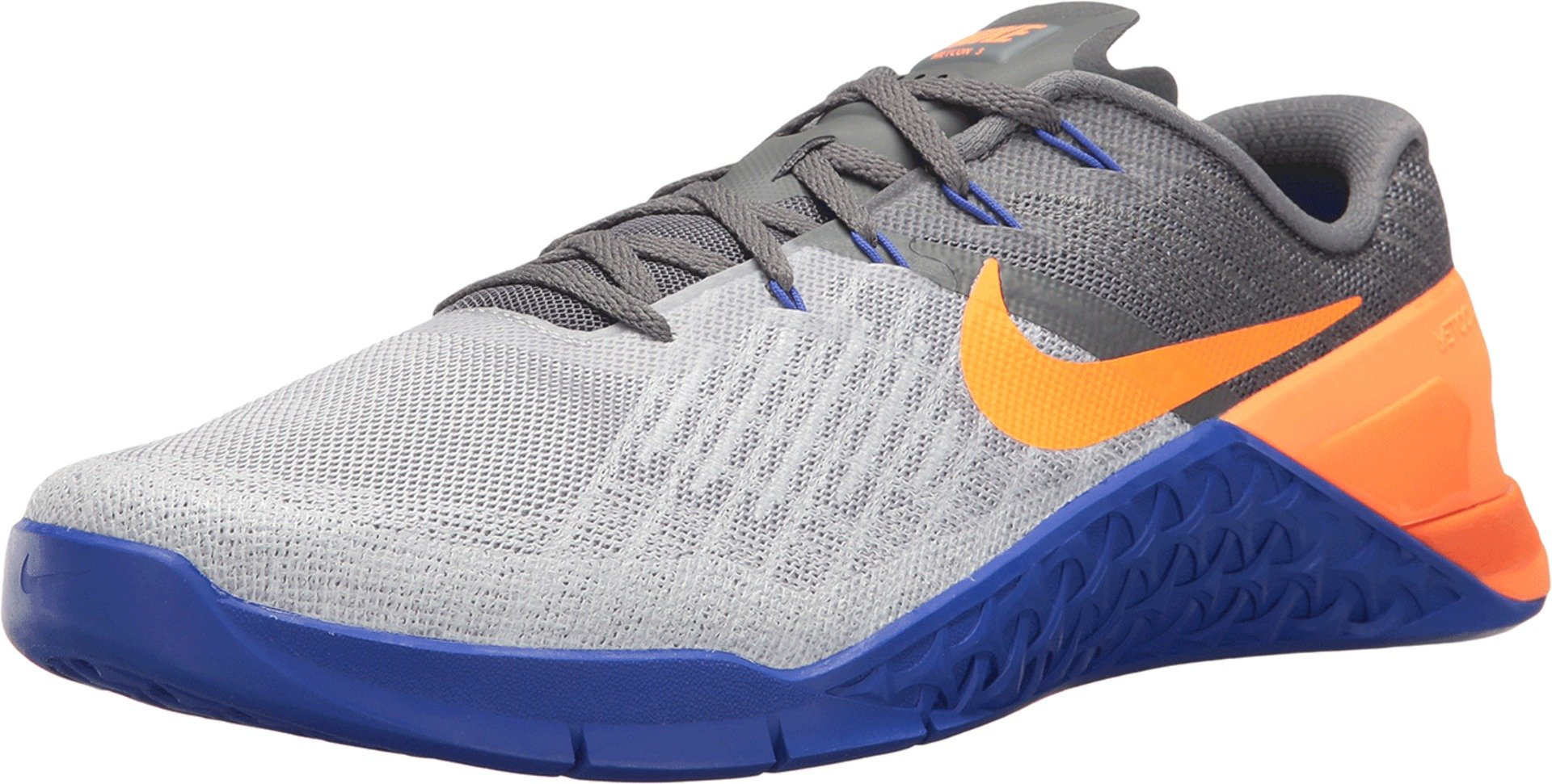 Nike Men's Metcon 3 Wolf Grey/Tart/Dark Grey Training Shoe (11, Wolf Grey/Tart/Paramount Blue 852928-003) by Nike