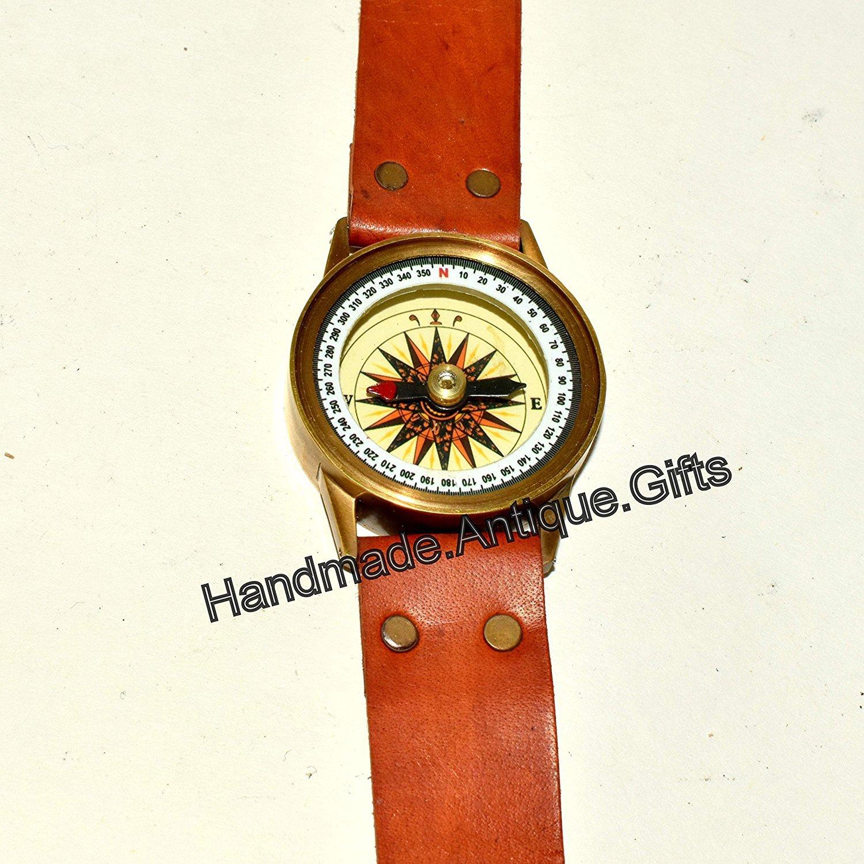 アンティークスチームパンク手首真鍮コンパス& sundial-watchタイプSundial B079VT8RH9