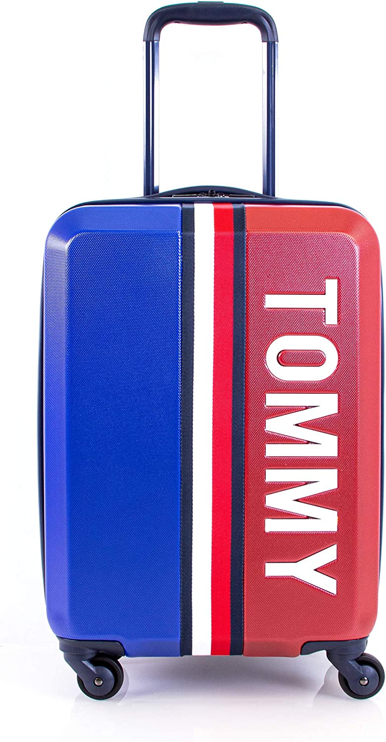 Royal Blue Tommy Hilfiger Pep Rally Hardside Spinner Luggage with TSA Lock
