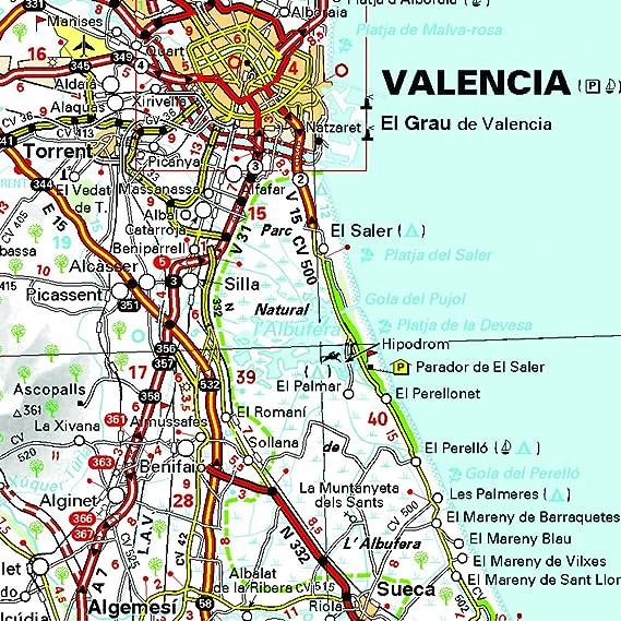 Mapa Regional Comunidad Valenciana, Murcia (Carte regionali): Vv.Aa, Vv.Aa: Amazon.es: Belleza