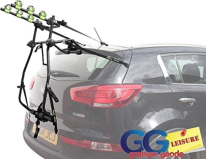 Portabicicletas triple, para portón trasero, compatible con coches ...