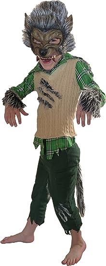 Disfraces Traje de Halloween de hombre lobo Werewolf 4-5 años ...