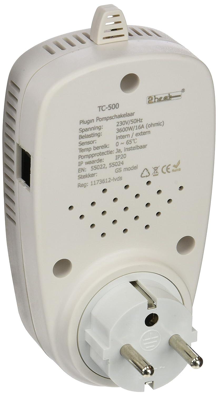 1000l bis 6000l 6m 180Watt INROT Heiz Systeme 70050 Koi Teich Heizungen Digital programmierbar mit Display