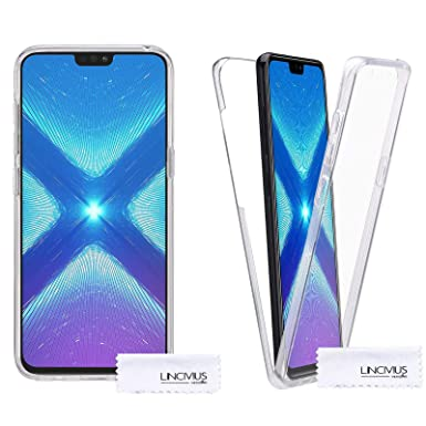 new concept ad5b5 5d539 Lincivius Huawei Honor 8X 360 Case, Full Body Protection Honor 8X Silicone  Clear Ultra Thin, Built In Screen Protector Slim Hybrid Cover Compatible ...