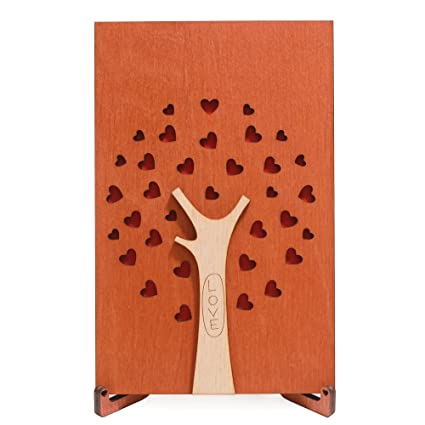 Amazon Handmade Real Wood Love You Card With Stand Best Wooden