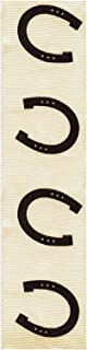 product image for Offray 930425 Equid Horseshoe Print Wired Edge Ribbon