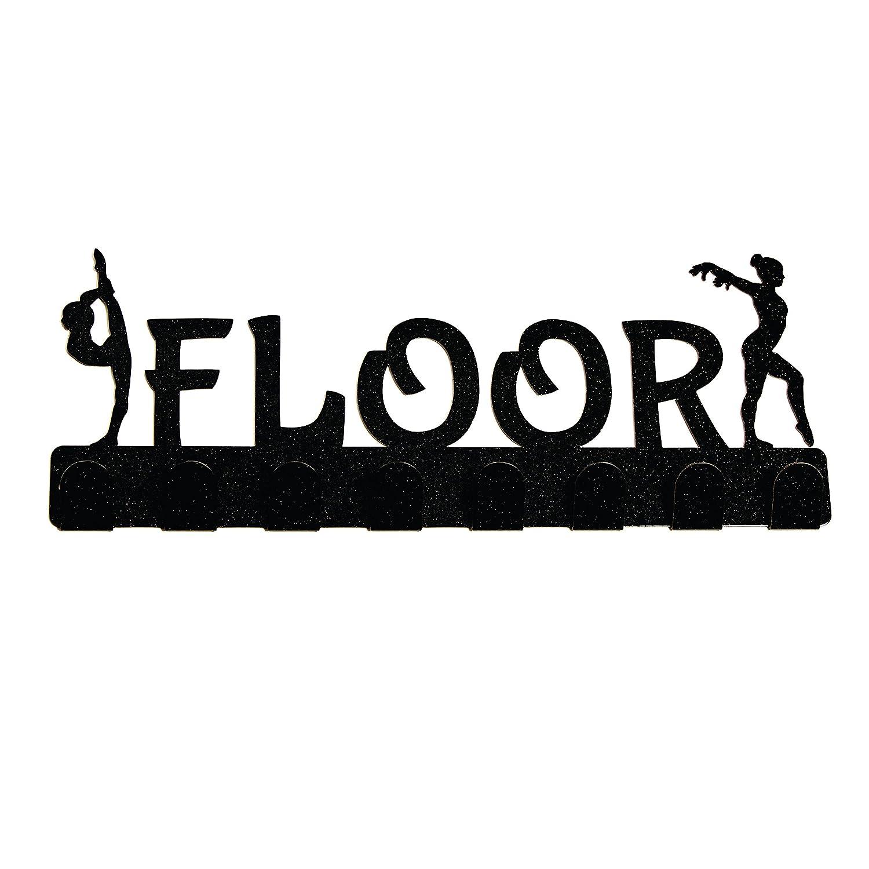 lizatards体操イベントGymnastメダルハンガーrack-floor-bars-beam-vault B00CJ05X0Q Black Floor-2 Black Floor-2