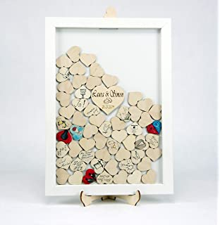 Ginger Ray Hochzeit Taufe Rahmen G/ästebuch Gl/ückw/ünsche Bilderrahmen Wolken Holz