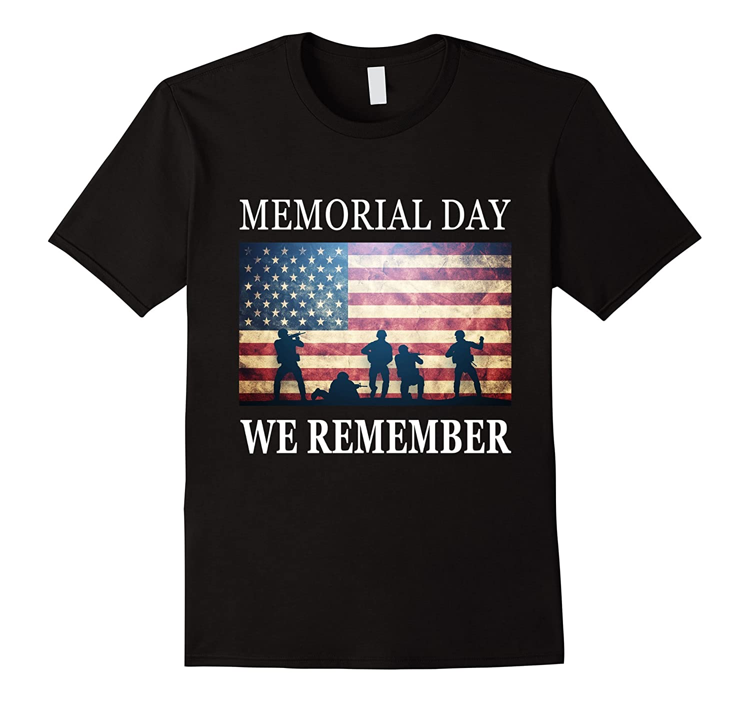 We Remember - Soldiers Military Memorial Day T-Shirt-Art